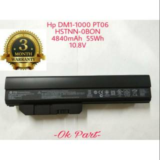 Baterai Laptop Original Hp Mini 311 Pavilion DM1 DM2 Dm1-1000 Dm1-2000 HSTNN-0BON