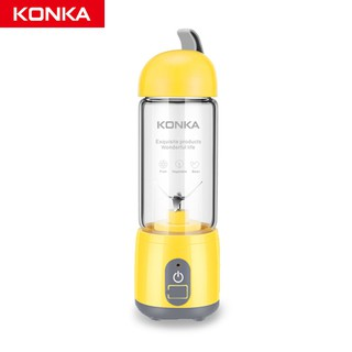 KONKA Portable Blender Mini Juicer USB blender Tanpa Kabel Gelas Kaca Borosilikat 420ML