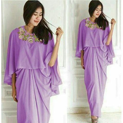 Kaftan Syahnaz Ungu Muda Dress 0105