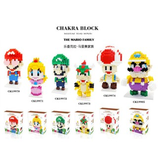 Nano Block / DIY 3D Puzzle Bricks Super Mario Princess Luigi Bowser Toad Wario