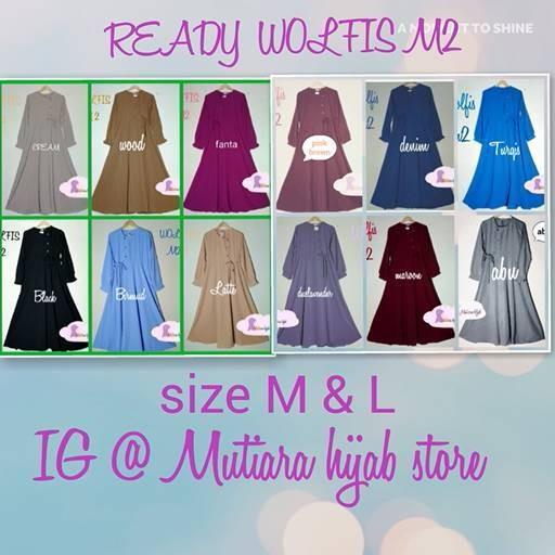 PROMO DRESS WOLFIS ZAHRANI 2 ( size M, L ) POLOS
