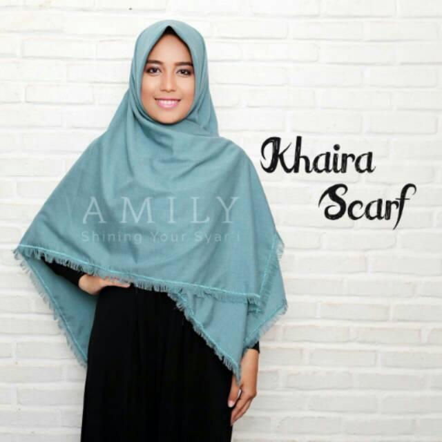 Khaira scarf pale blue