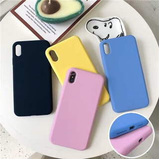Casing soft Case Macaroon Polos Ready semua type handphone oppo xiaomi vivo samsung iphone
