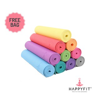 Happyfit Matras Yoga 6MM Gratis Tas PVC Mat Free Bag