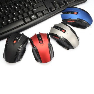 Mouse Gaming Wireless 2.4Ghz Optical Dengan Receiver USB Untuk PC/Laptop