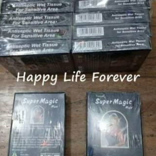 Tissue / Tisu Super Power Magic Man Depkes 1 kotak isi 6 sachet