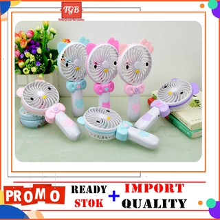 TGB Kipas Angin Portable / Kipas Karakter / Mini Hand Fan / Kipas Genggam / Kipas Hello Kitty Lampu
