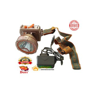 Headlamp Dony Senter Kepala Berburu Led 10 Watt Senter Jarak Jauh KL 158