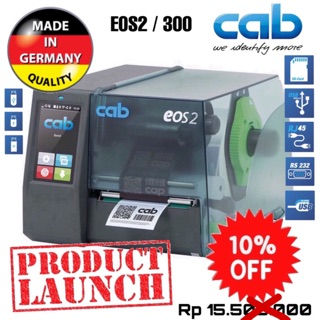 CAB EOS 2/300 THERMAL TRANSFER RIBBON BARCODE LABEL PRINTER-300 DPI