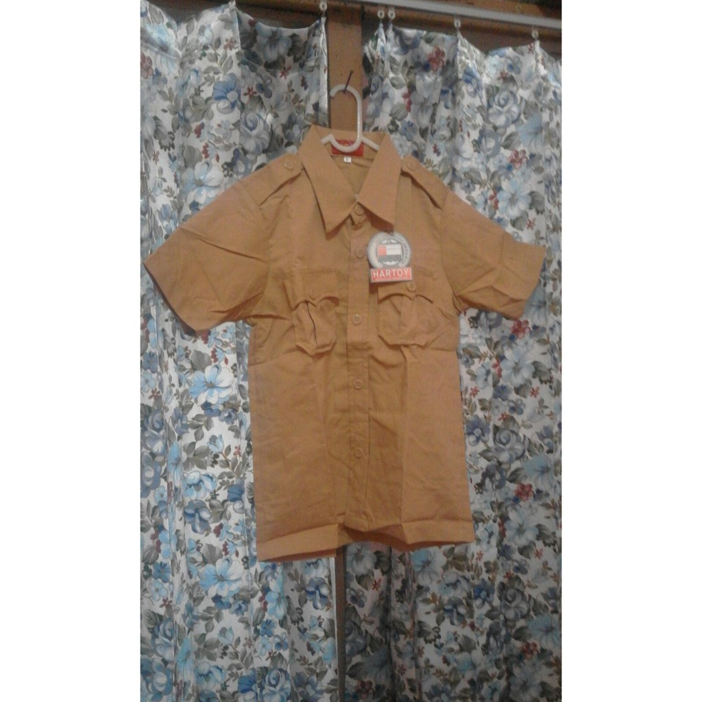 Diskon 40% No.4 Grosir Kemeja/ Baju Seragam Sekolah Sd Pramuka Laki Panjang Fmtex Original