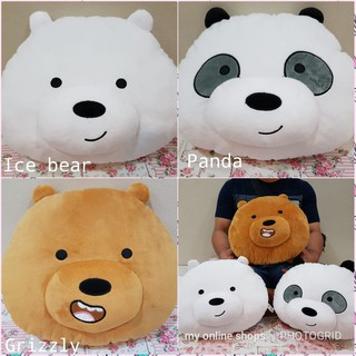 Bantal Boneka We Bare Bears Panda Beruang Kepala
