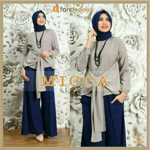 [HOT SALE] Hijab Set 3in1 MICCA Gray Keren