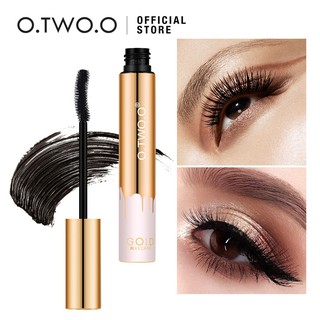 [Bayar Di Tempat]O.TWO.O Gold Mascara Waterproof Long Lasting Curling Eyelash Cosmetics