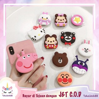 TU88 Popsocket 3D Karakter PREMIUM Tsum Tsum Pop Socket Handphone Phone Holder 3D Cartoon  ST011