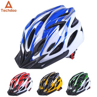 Techdoo Helm Sepeda Unisex Bahan PC+EPS Ultra Ringan 18 Ventilasi Udara Bicycle Helmet Biking OS104