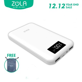 Powerbank Zola Jade LED Kapasitas Real 10000mAh Dengan Smart LED Display & Fast Charging 2.1A
