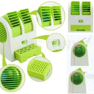 AC Duduk Mini Portable Double Cooler Fan Kipas Angin Aroma Terapi