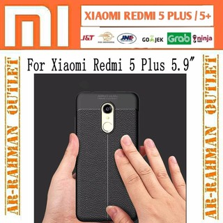 TURUN HARGA xiaomi redmi 5plus 5 plus redmi5plus casing handphone hp soft case leather kulit auto fo