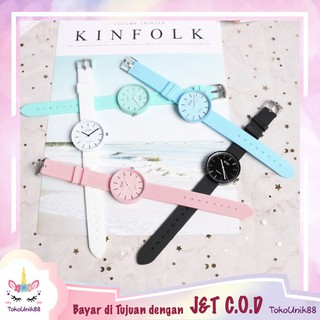 TU88 Jam Tangan Wanita SHSHD Harajuku Gaya Korean Simple Jam Fashion Men Women Couple Jelly - J071