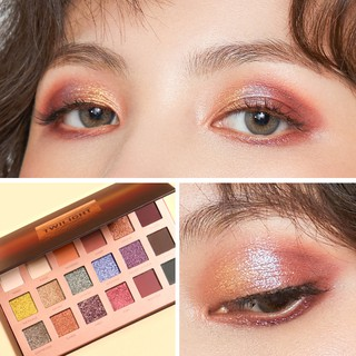 【COD】FOCALLURE 18 Colors High Pigment Eyeshadow Palette - Twilight