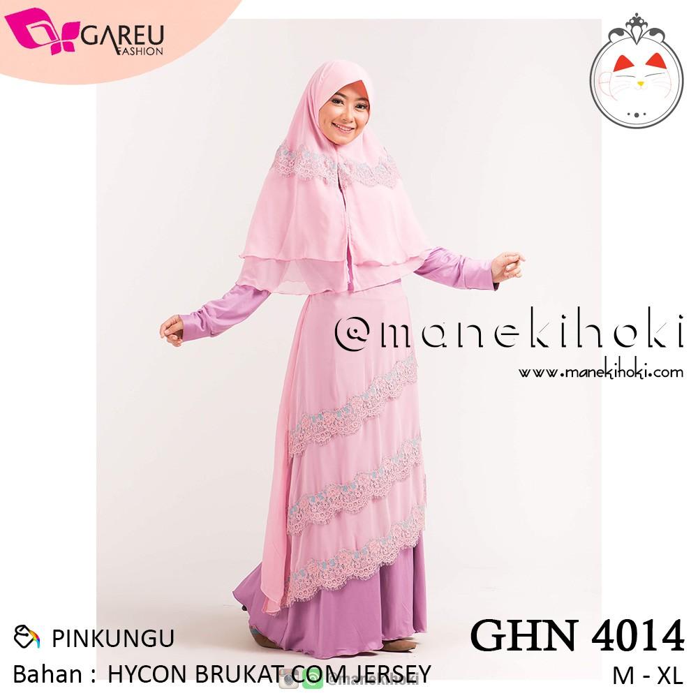 Busana Muslim / Gamis Syari Wanita – GHN 4014 – Original Gareu Fashion