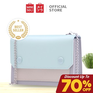 MINISO Sling Bag Woman/Tas Selempang Fresh Macaroons Series Crossbody Bag Wanita Chain Rantai