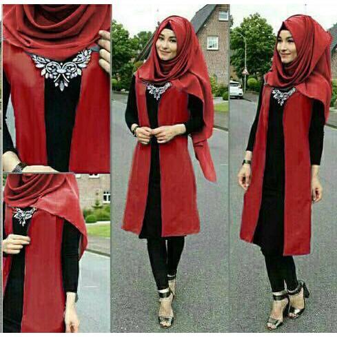 Aop Setelan St Hijab Muslim Nurmala Benhur / Baju Wanita Maxi Jilbab