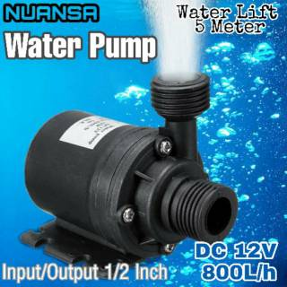 800L/H 5M Submersible Water Pump Pompa DC 12V Pompa Air Penguat tekanan air rumah, hidroponik, dll.