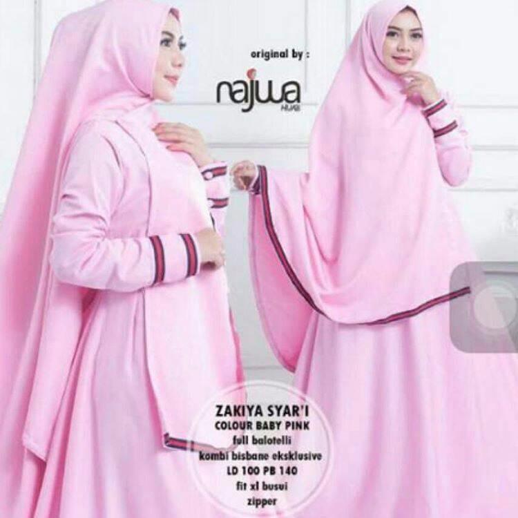 Long Dress / Maxi Long Wanita Long Dress / Maxi Long Wanita Zakiya syarii b pink mc