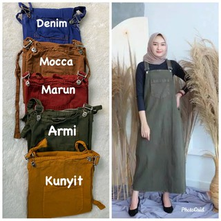 (1kg=5pcs) JANETA OVERALL DENIM WASHED PREMIUM