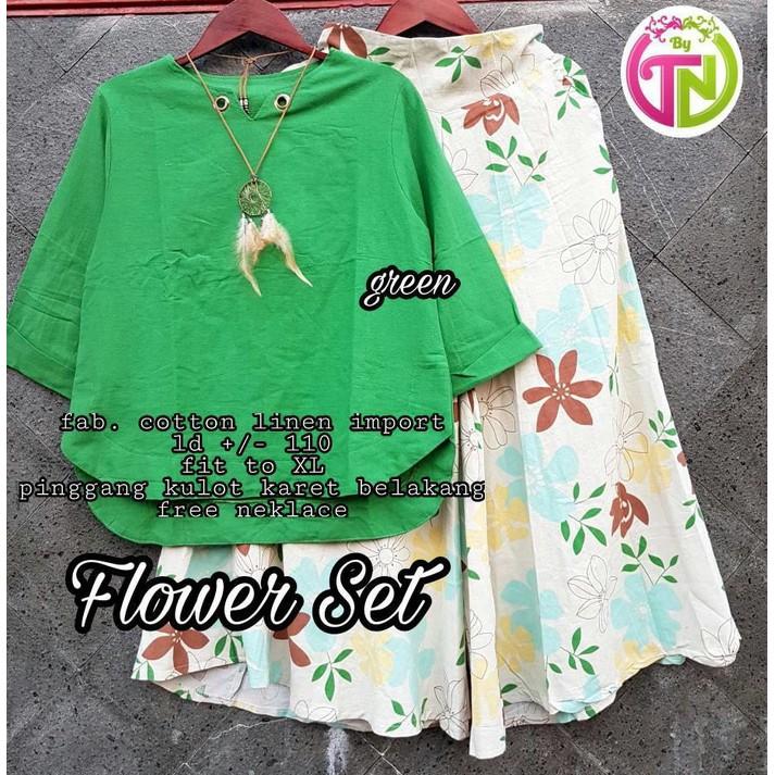 flower set green