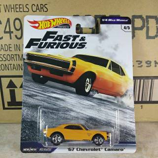 Hot Wheels Fast and Furious C case 67 camaro open hood