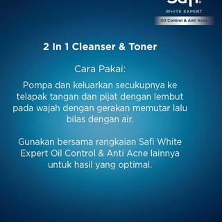 ╖ Safi White Expert Oil Control And Acne Cleanser & Toner 150ml ╖
