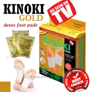 Kinoki gold detox foot patch per box isi 10 sachet koyo
