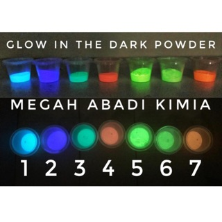 Glow in the dark powder  bubuk fosfor  10 Gram