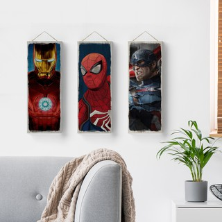 Poster Kayu Super Hero Iron man, Spiderman, Batman, deadpool, Marvel DC
