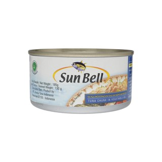 Sun Bell Tuna Chunk In Vegetable Oil 185gr