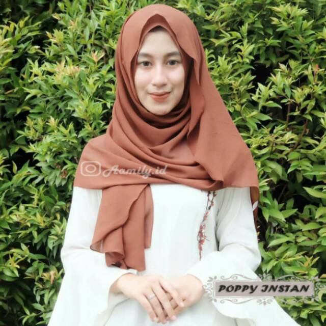 Pasmina hijab instan poppy