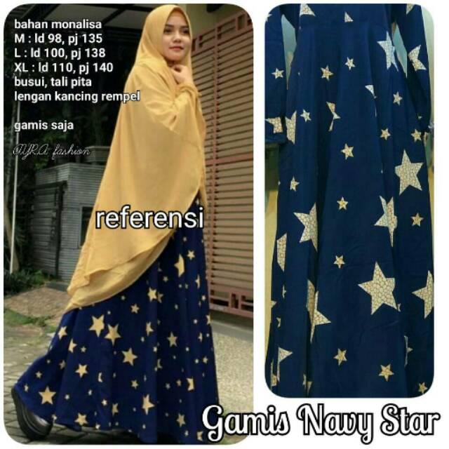 Gamis Navy Star