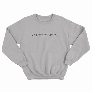 Crewneck Ariana Grande No Tears Left To Cry - Abu-Abu Muda, Xs
