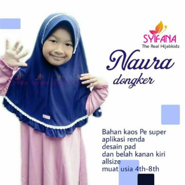 Kerudung anak Naura/jilbab anak sekolah
