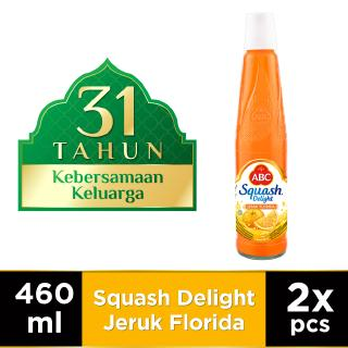 ABC Sirup Squash Delight Jeruk Florida 460 ml - Twin Pack