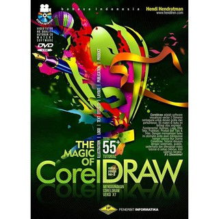 BUKU THE MAGIC OF COREL DRAW X7 X8 / BUKU VEKTOR / BUKU BELAJAR BROSUR / BUKU DESAIN LOGO