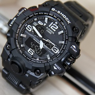 PROMO ANTI AIR RUBBER JAM TANGAN PRIA SPORT CASIO G-SHOCK GSHOCK DUAL-TIME GWG-1000 LIST PUTIH GK002