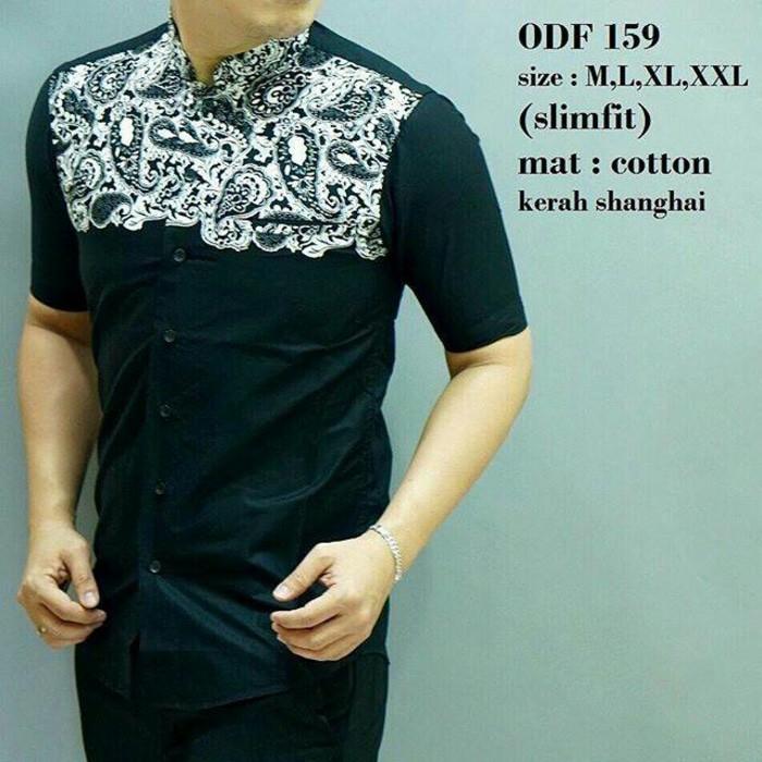 Baju Koko Pria Lengan Pendek Slim Fit Odf159