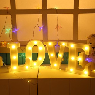 3D 26 Letter LED Indoor Wall Hanging Night Light Marquee Sign Alphabet Light
