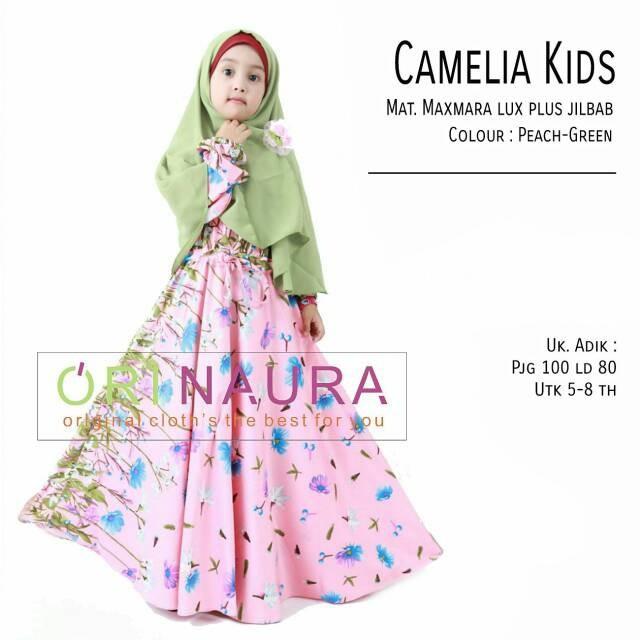 BESTSELLER Baju Gamis Anak Camelia Kids Ori Naura Longdress