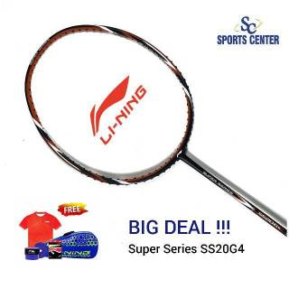 BIG DEAL Raket Badminton Lining Super Series SS 20 / SS20 gen 4 / SS20G4 FULL SET + KAOS