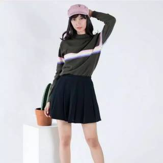 AFI - EC - Sweater Turtleneck Rajut Pelangi / Rainbow