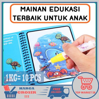 [1KG =10 PCS] TOP MARKET ID - BEST SELLER MAGIC WATER COLORING BOOK/ BUKU GAMBAR / BUKU MEWARNAI